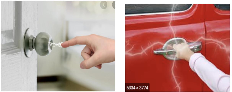 static shock on car door